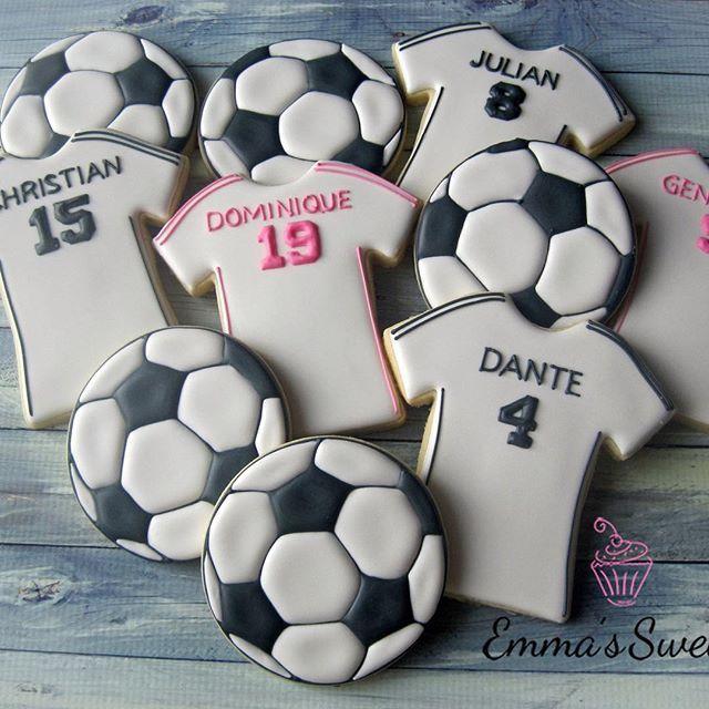Jerseys and soccer balls