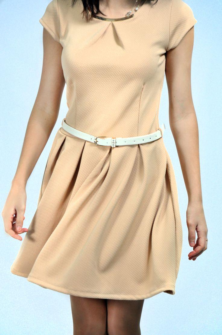 модное платье на каждый день цвета беж, купить на inuzza.com
