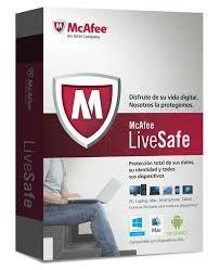 Licencias Anti Virus McAfee Live Safe Bs. 499,00 protege tu pc+tablet+celular todo en uno valido por un año