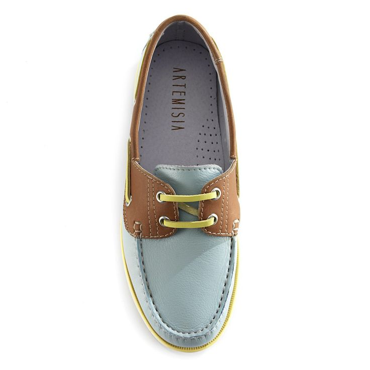 Diana Pastel Blue Boat Shoes