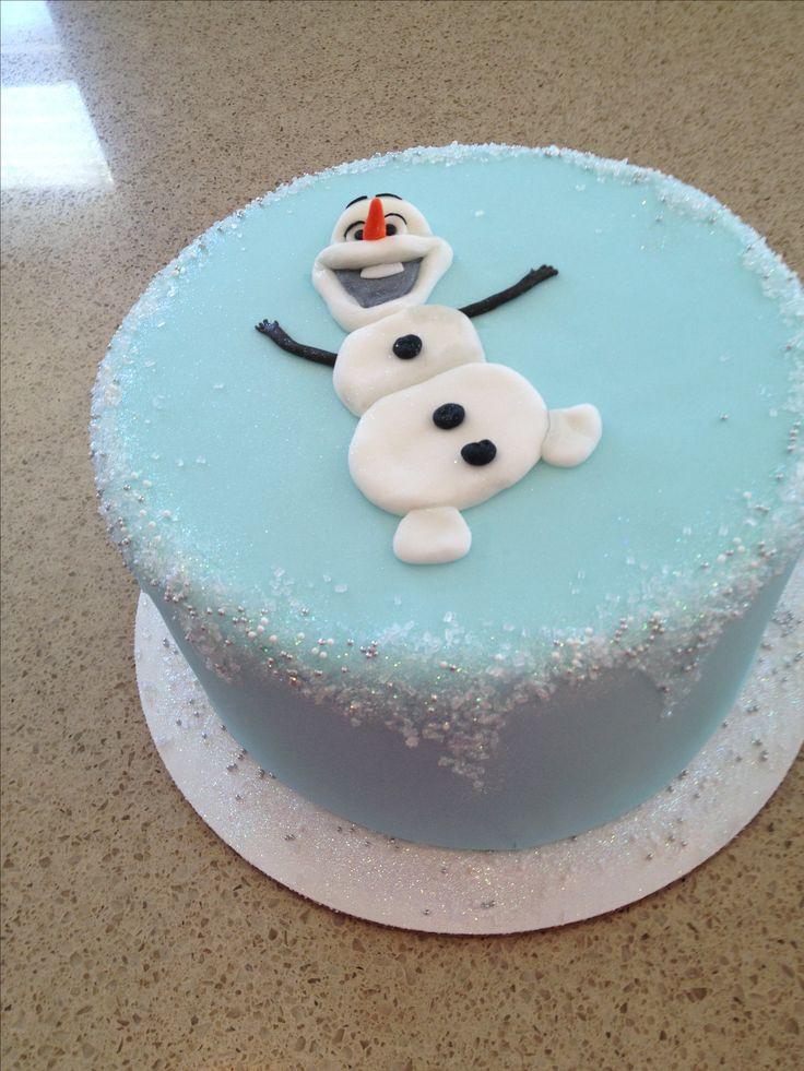 Olaf cake, Frozen cake, winter birthday, ice, snow, snowman