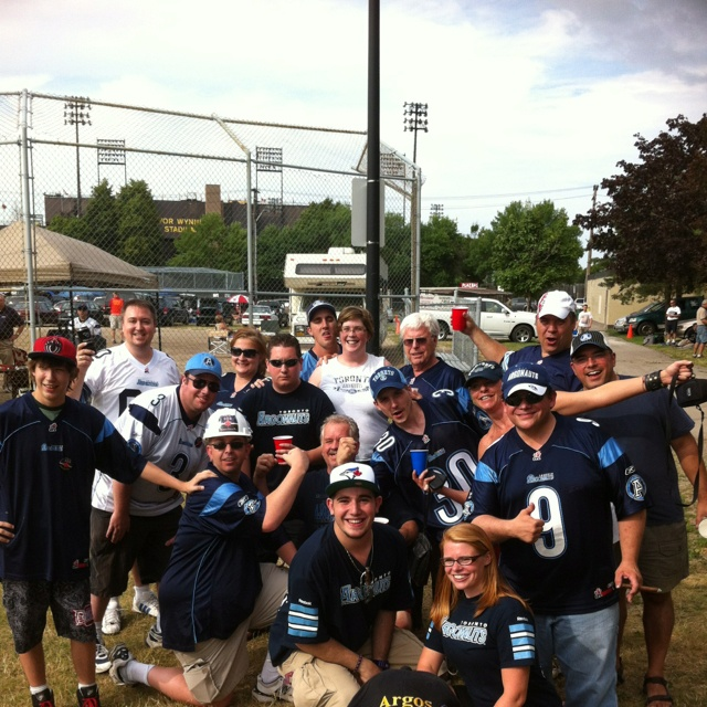 Great group of Toronto Argonauts fans in Hamilton Toronto Argonauts vs Hamilton Ticats: Round 1 of 2012