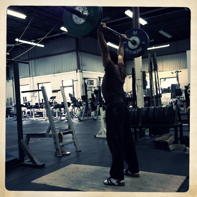 Working on my Clean and Jerk