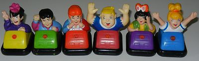 1987 Archie Betty Veronicia Reggie Jughead Moose Bumper Car McDonald Toy