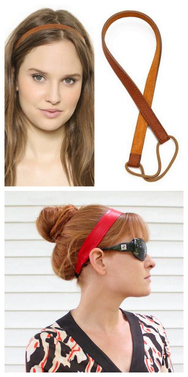 DIY Leather headband                                                                                                                                                                                 More