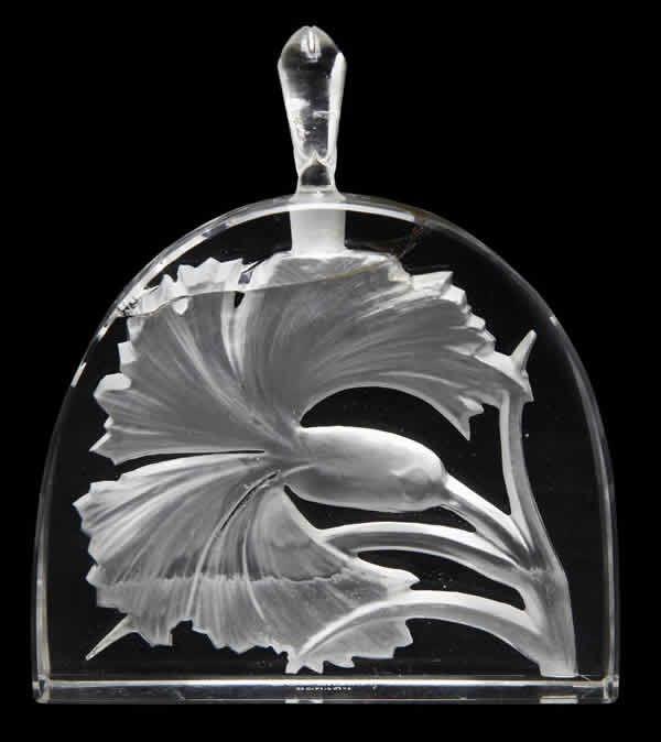 Lalique Perfume Bottle Oeillet Maison Lalique