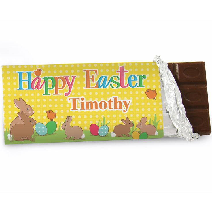 22 best easter images on pinterest easter gift personalised gifts easter bunny chocolate bar negle Choice Image