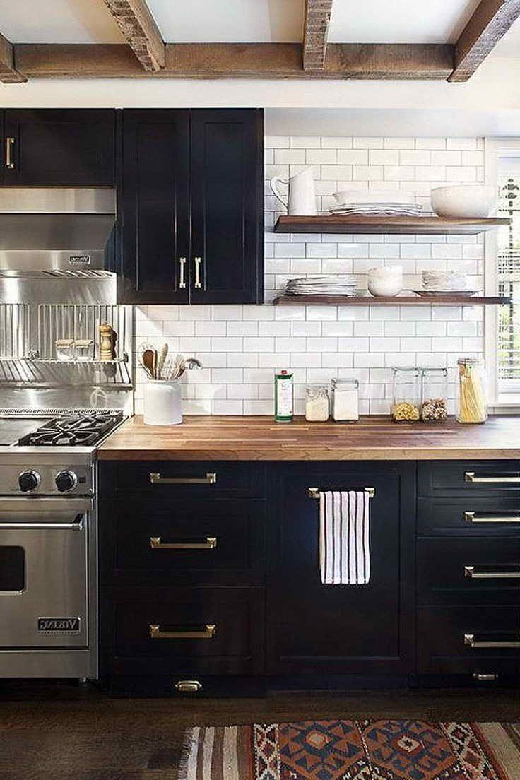 Industrial Kitchen Cabinet Hardware Kitchen Cabinet Design White Wood Kitchens Black Kitchen Cabinets