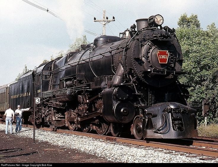 RailPictures.Net Photo: PRR 1361 Pennsylvania Railroad Steam 4-6-2 at Tyrone, Pennsylvania by Bob Kise