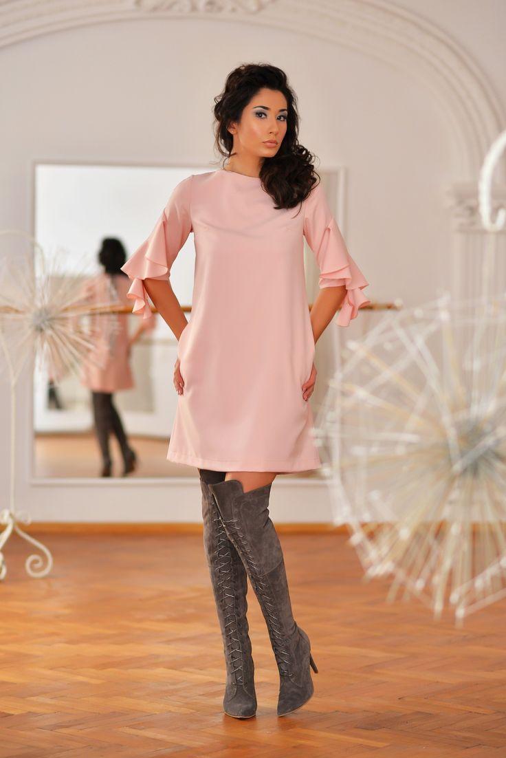Ara Dress (Rose Quartz A-cut Dress)