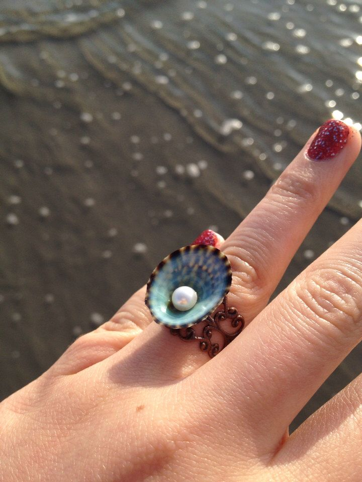 Colorful Green shell Ring/ Mermaid ring (Fits All Sizes)-nautical ring mermaid accessories by LovelornSiren on Etsy https://www.etsy.com/listing/163460615/colorful-green-shell-ring-mermaid-ring