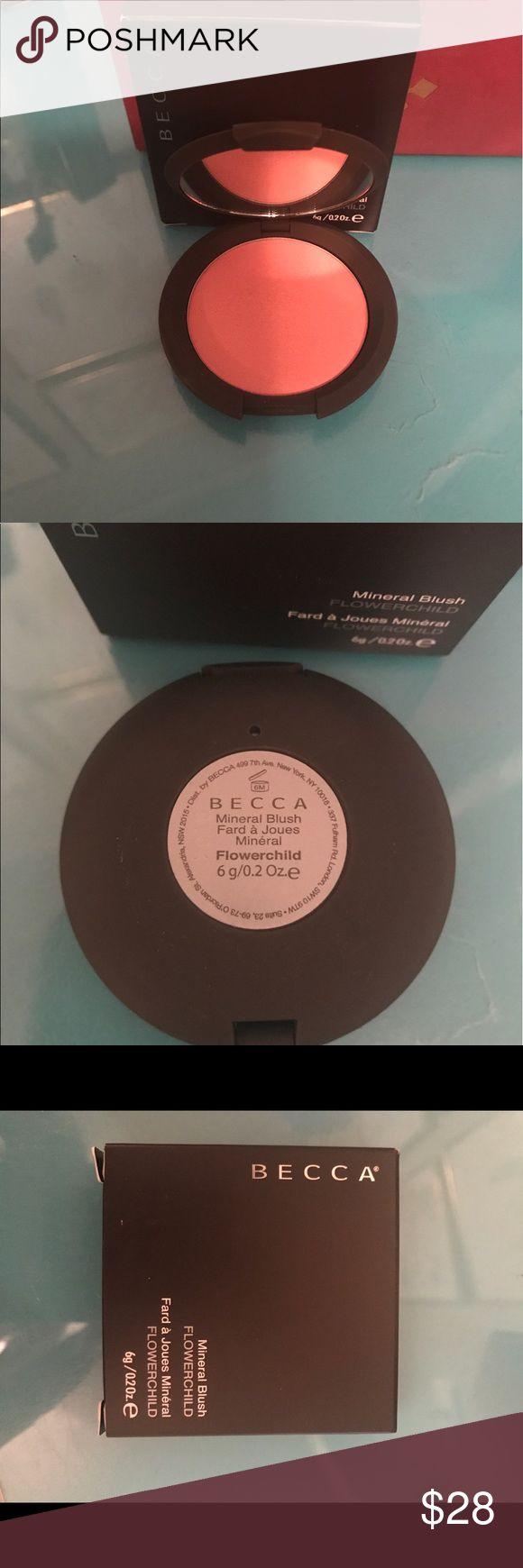 Becca flowerchild mineral blush Becca flowerchild mineral blush. Only used once to swatch. BECCA Makeup Blush