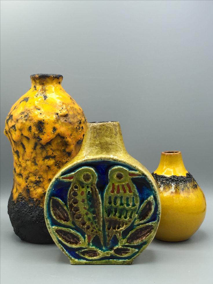 Marei Keramik , Schramberg 401,  Kreutz Fat Lava. Midcentury WGP Ceramics.