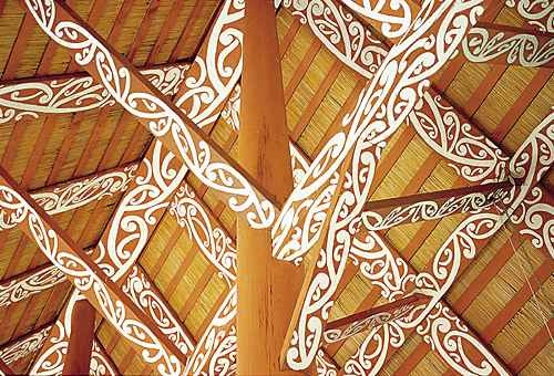kowhaiwhai on rafters