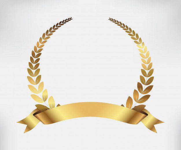 Golden Award Laurel Wreath Golden Awards Gold Logo Design Laurel Wreath