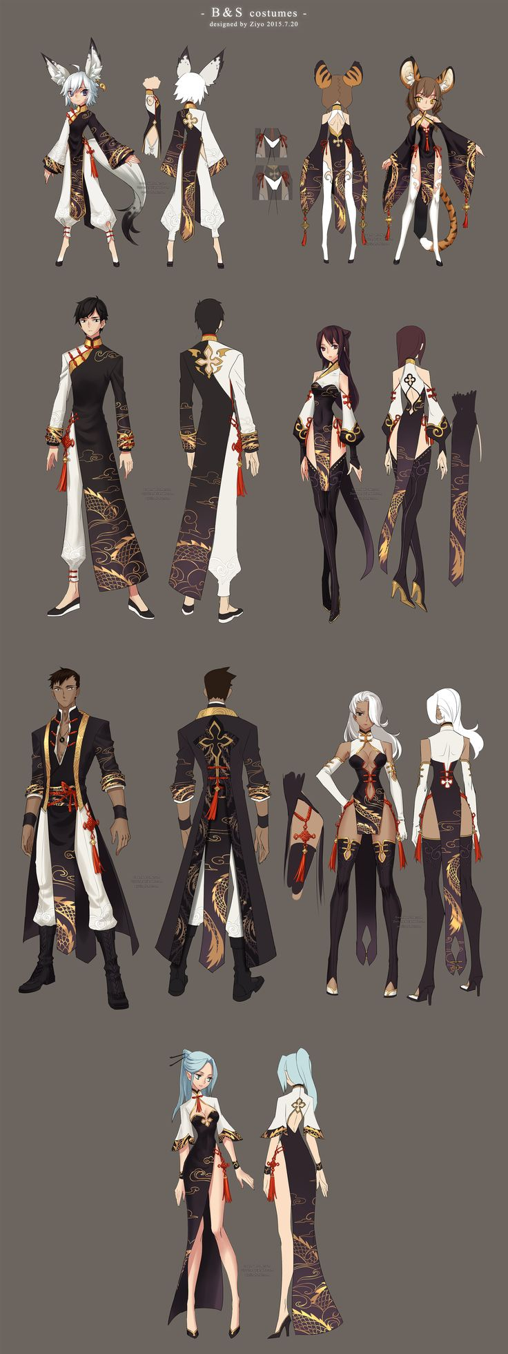 Bns costumes design by ZiyoLing.deviantart.com on @DeviantArt