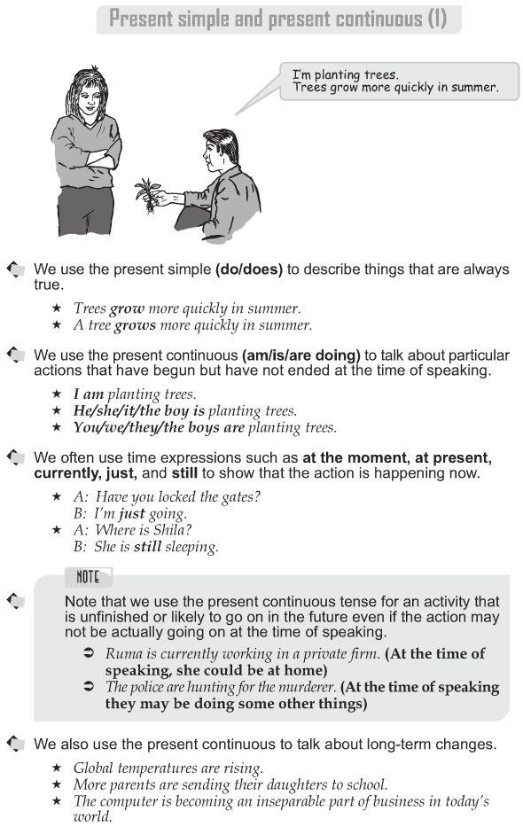 Grade 10 Grammar Lesson 1 Present simple and present continuous (1)