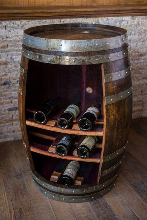 Wine Barrel Cabinet Dark Walnut Finish Products In 2019