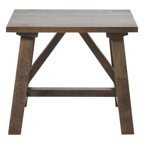 Barnsbury Side Table 60x60cm  Distressed Cafe
