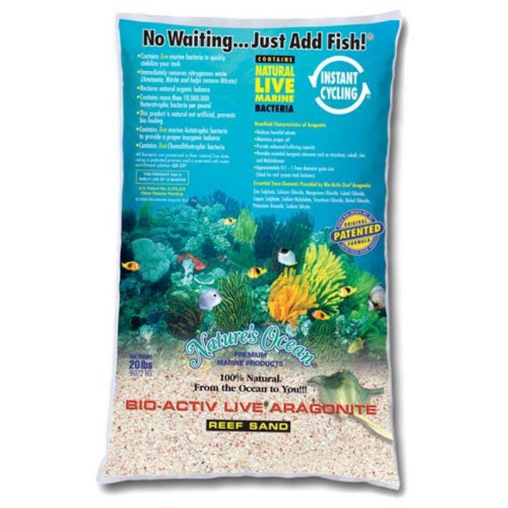 Live Reef Aquarium Sand-20lbs - SANDBIO-ACTIV