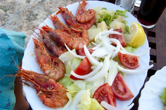 Bacon on the beech: The Fish Shack, Talamanca Ibiza.