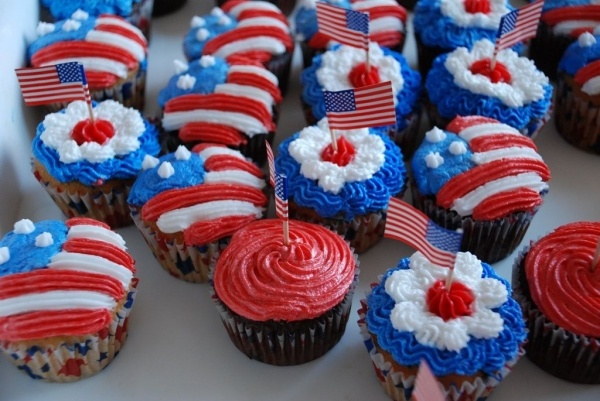 4th of july cupcake papers