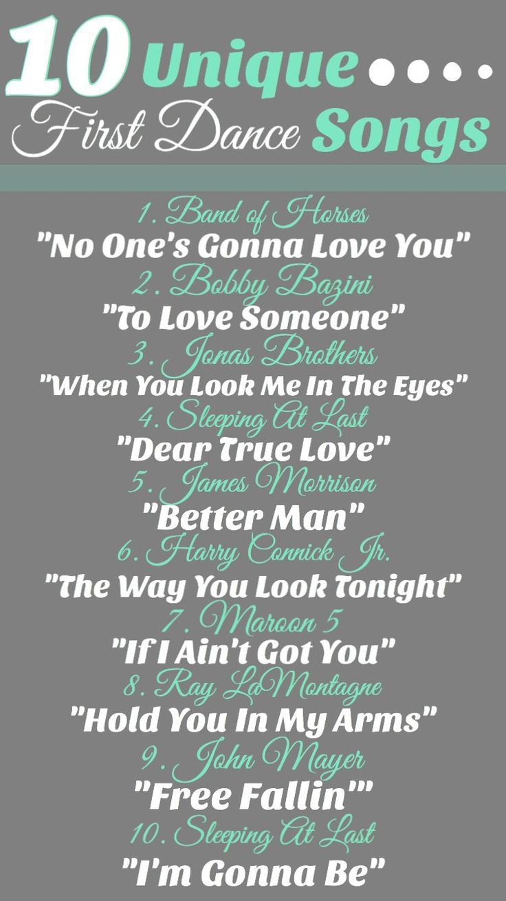 10 Unique First Dance Songs firstdancesongs in 2020