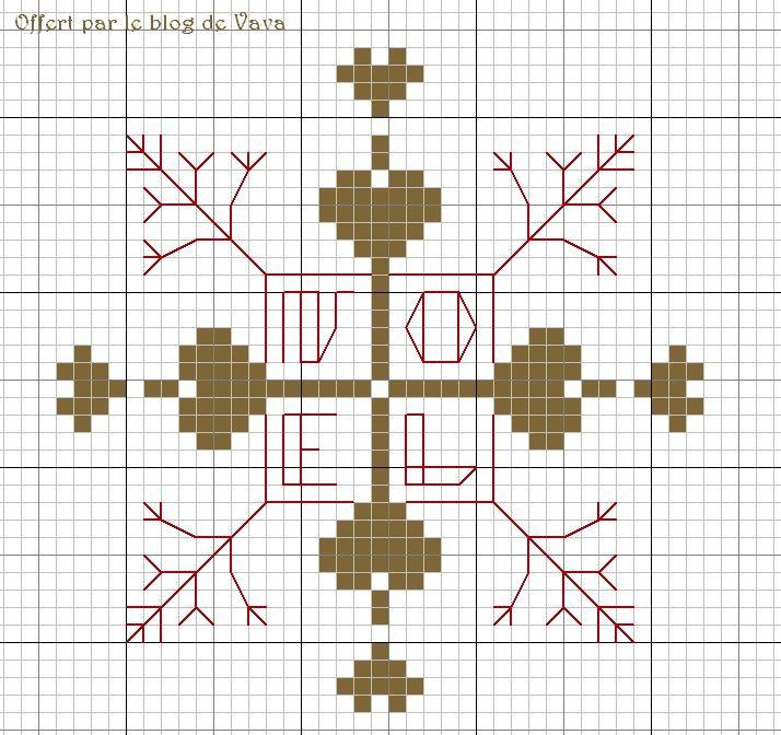 Nouvelle grille gratuite sur le thème de Noël et des fêtes de fin d'année Pour la télécharger en grand format :  Un joli mélange de blackwork en point arrière et de points de croix Belle semaine à broder... vava