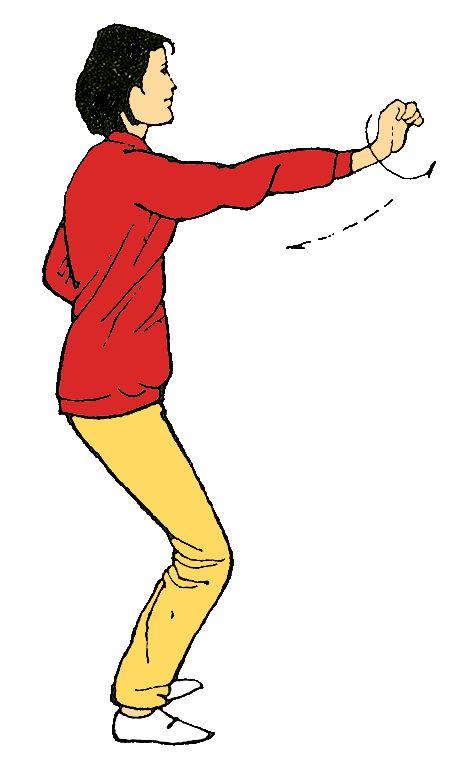 14.Proyectar el puño al frente 6 veces por cada lado y giramos el puño al frente y volver )   Actúa sobre el hígado Alivia tensiones, mal humor y rabia