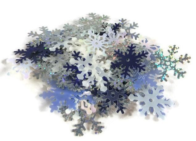 Shimmer Snowflakes Shapes Large Assortment, 50 Per Package