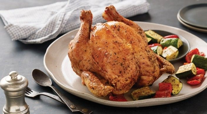 Check out this delicious recipe for Herb-Roasted Chicken with Zucchini and Peppers  from Weber—the world's number one authority in grilling.