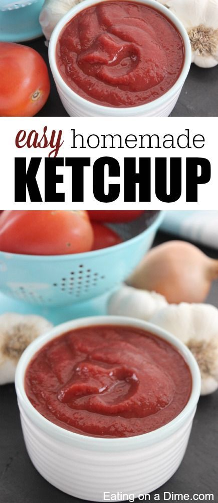 Have you tried to make your own ketchup before? Have you ever read the ingredients on the ketchup bottle before?   Try this easy homemade ketchup recipe - save your family some money give them a healthier alternative.
