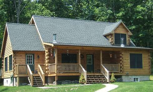 modular log homes in north carolina | Modular Log Cabins...The Most Complete Of All Prefabs To Arrive On ...