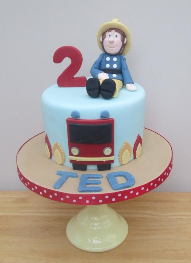 Fireman Sam - Cake by The Buttercream Pantry