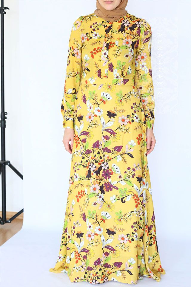 Autumn Flower Dress | Islamic clothes online