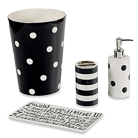 Boasting spot-on style, the Deco Bath Ensemble from Kate Spade is a fun way to update your bathroom decor. A cool and colorful polka dotted design brings a chic, yet casual, vibe to your space.