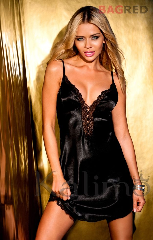 Mouse over image to zoom  Have one to sell? Sell it yourself Satin Lace Chemise Nightdress CORDOBA Luxury Nightwear Sleepwear Slip Nightie