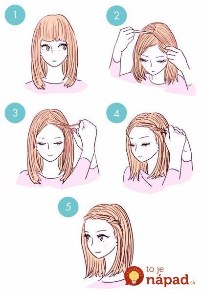 Jednoduché, ale krásne účesy podľa obrázkových návodov. Viac inšpiratívnych účesov nájdete v našom článku na http://tojenapad.dobrenoviny.sk/15-obrazkovych-navodov-na-na-krasne-a-jednoduche-ucesy/  #hair #hairtutorial #vlasy #ucesy #hairstyle #inspiration #tojenapad