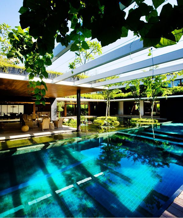 Stunning residence is beyond tranquilCluny House, Modern Home Design, Swimming Pools, Living Spaces, Open Plans Living, Backyards Design, Guz Architects, Singapore, Courtyards