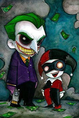 Joker and Harley Quinn by Christopher Uminga