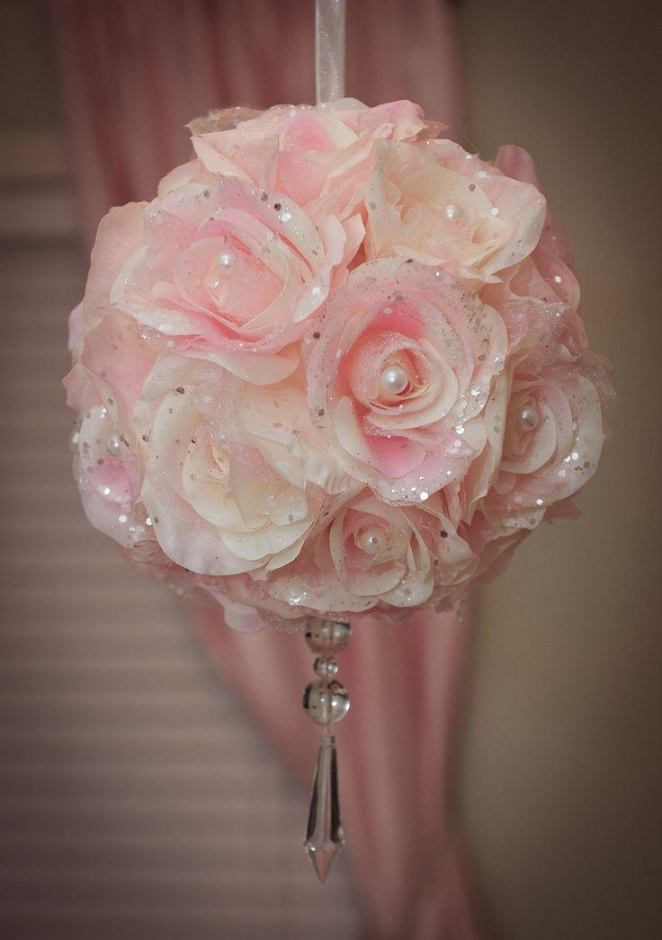 Baby girl nursery decor-Decorative hanging floral ball ...