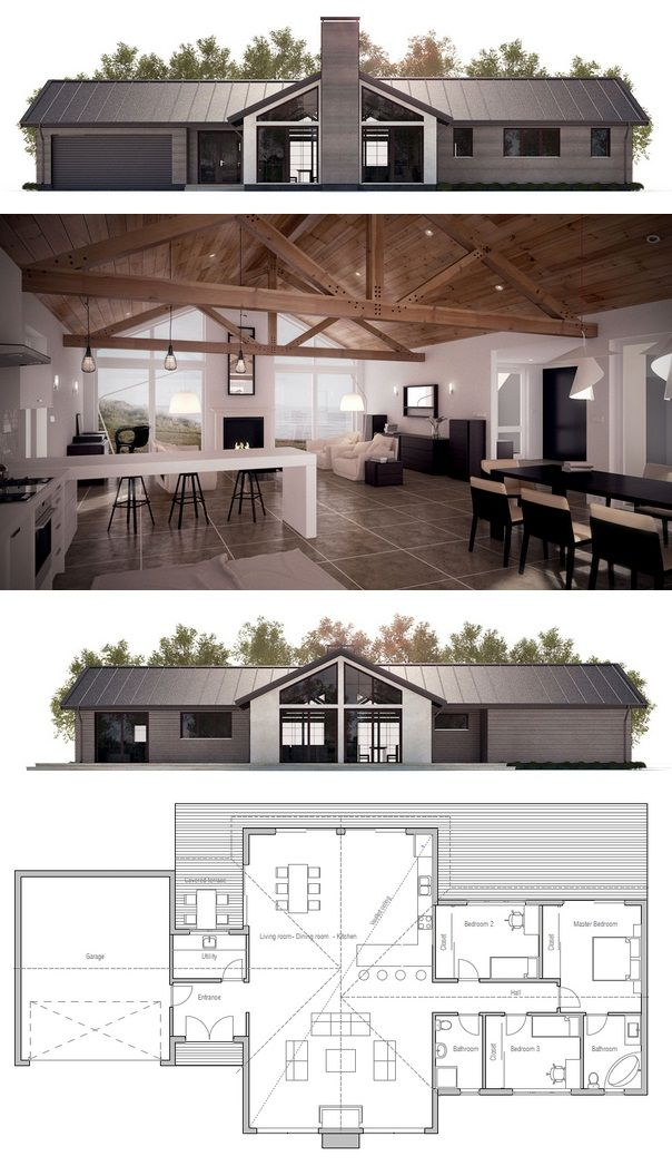 I think I would make the fireplace side the backyard, moving the garage door to the front.  I would also take over bedroom #2 for bigger bath with closet walk through.  Removing master bath and giving it to other bathroom for a second full suite with walk through closet for Prince William