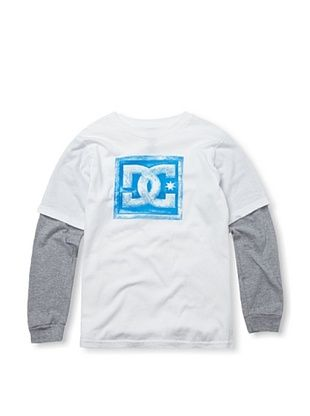 73% OFF DC Boy's Harvest Twofer Tee (White)