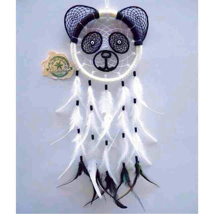 A panda dream catcher on We Heart It