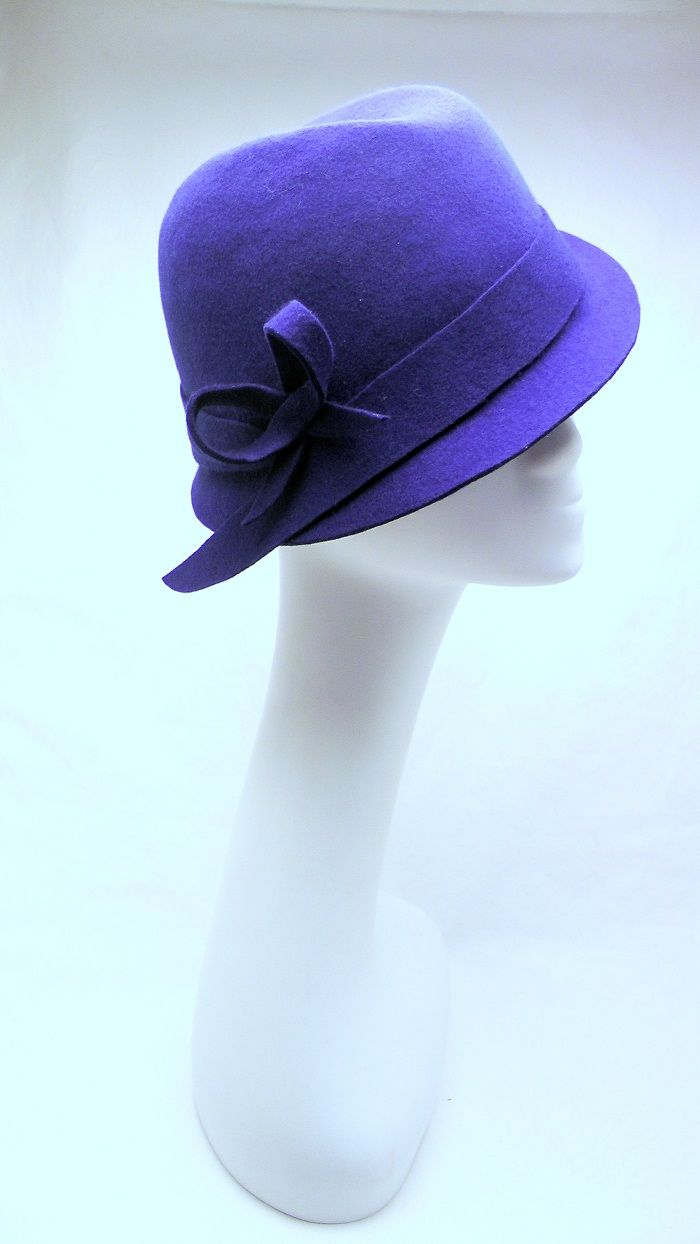 #felthat #blueroyalhat #womenfelthat #clochehat #1920'shat #bluefelthat