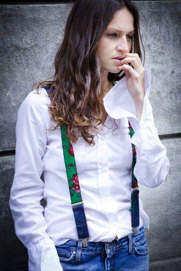 girlfriends green suspenders nude