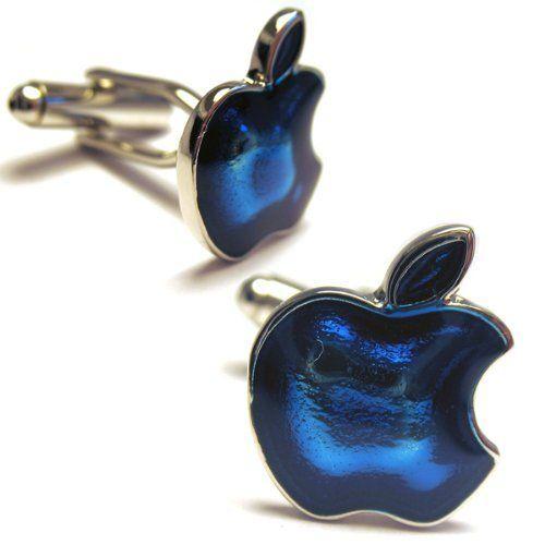 Apple Mac Computer Blue Cufflinks