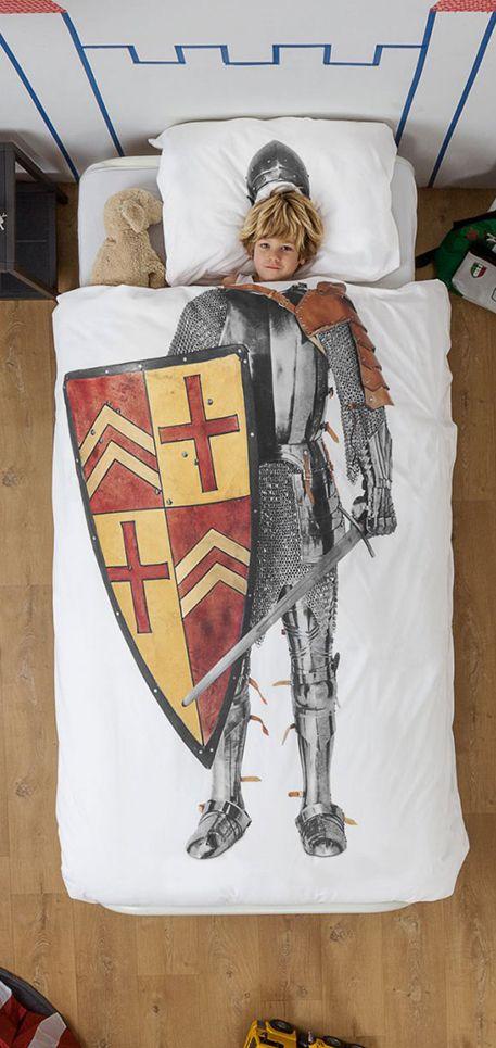 Met dit SNURK 'Knight Ridder' dekbedovertrek droom in in als kleine man tot een ware coole ridder. #Kids #Snurk #Beddengoed