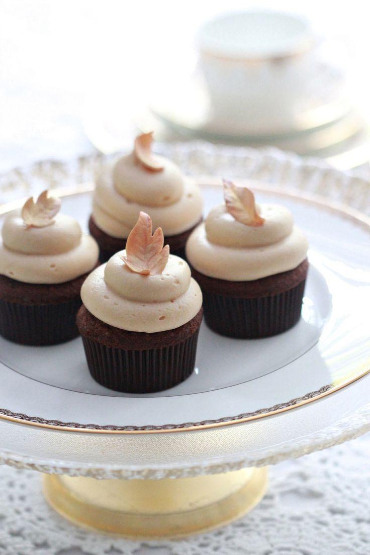 Chocolate Caramel Fall Cupcakes  Sweetopia