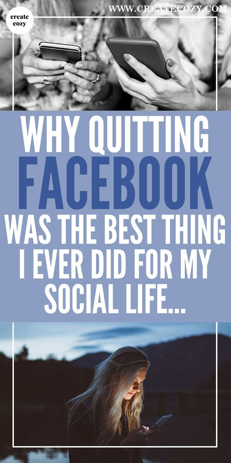 We all love social media but maybe too much does us more harm than good. If you're thinking about quitting Facebook, read about what I learned going cold turkey.